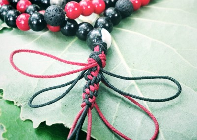 Red & Black Dragonfly Mala