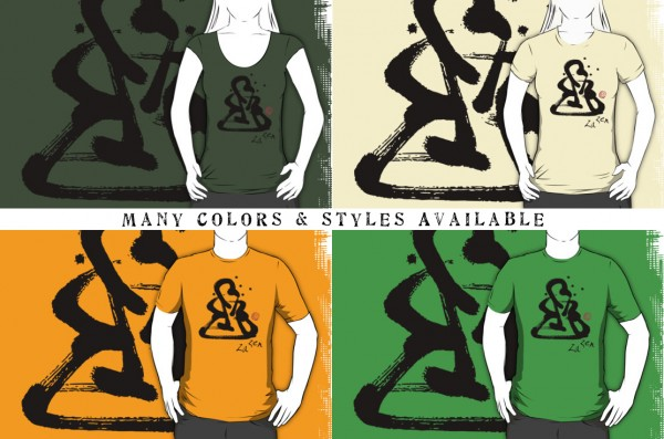 Za Zen - One Black Stroke - Shirts in Many Colors & Styles