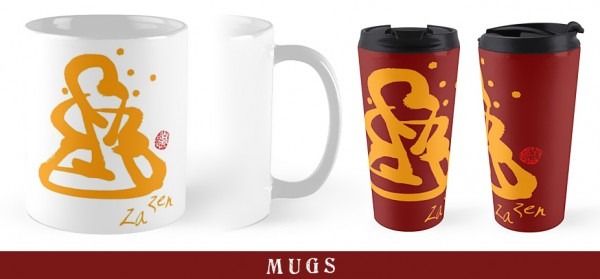Za Zen - Orange Awakening - Mugs
